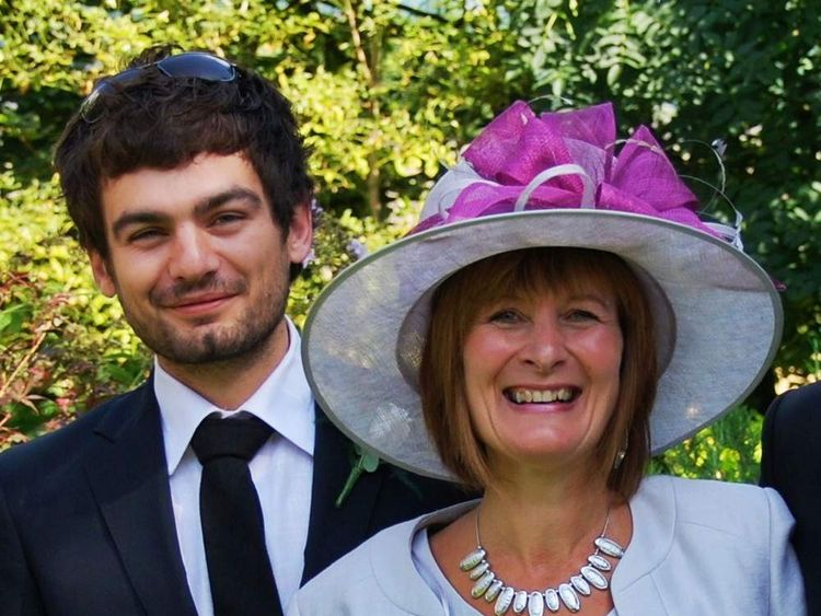 Gareth Huntley with his mum, Janet Southwell