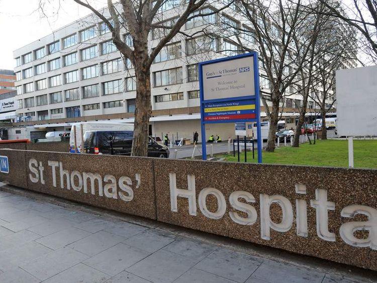 St Thomas' Hospital, London.