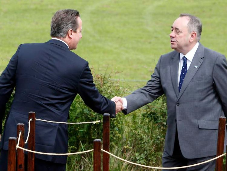 Prime Minister David Cameron and First Minister Alex Salmond