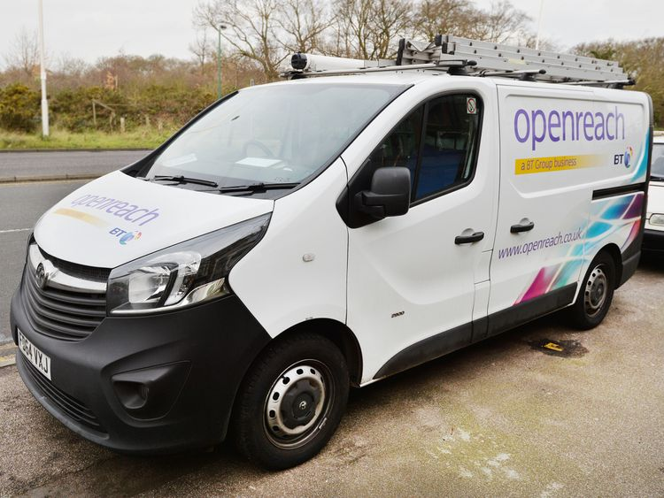An Openreach van