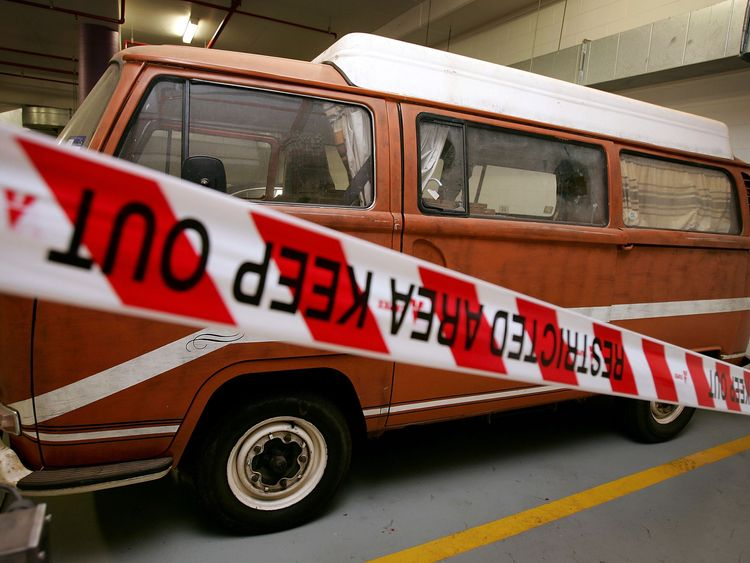 The VW Kombi in which Mr Peter Falconio and Joanne Lees were travelling