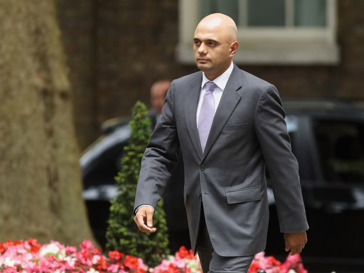 Sajid Javid is now the  Communities Secretary. He was previously the Business Secretary.
