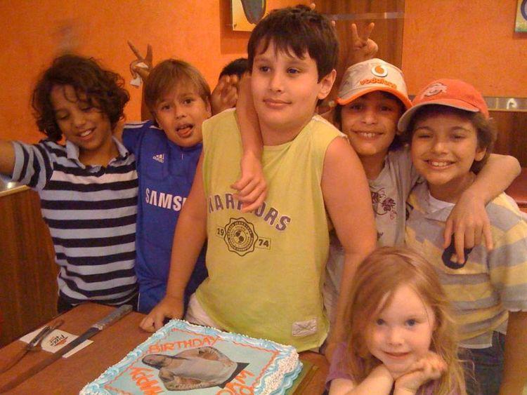 Adam Jones on his 10th birthday
