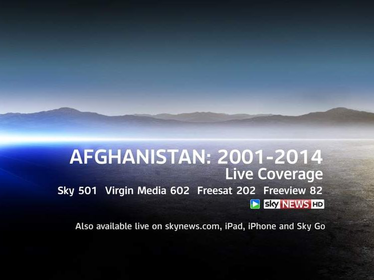 Afghanistan Live Coverage Promo Slate
