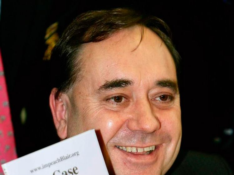 Alex Salmond in 2004 as part of a campaign calling for the impeachment of PM Tony Blair over the invasion of Iraq