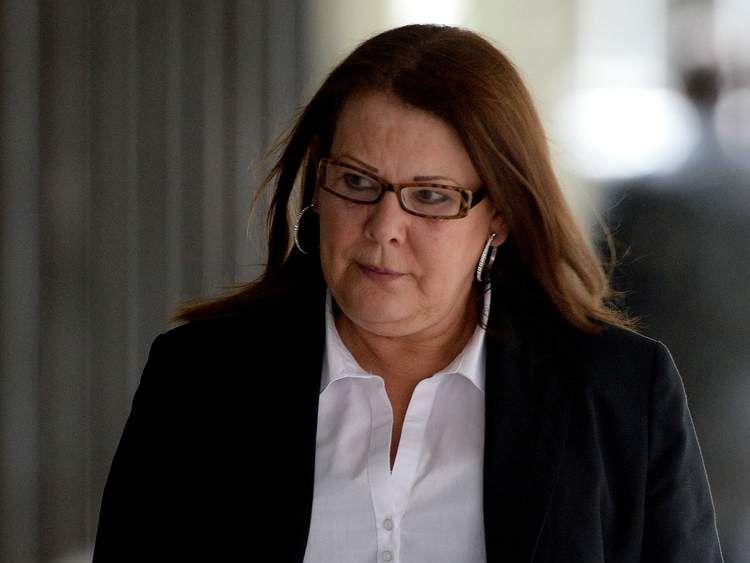 nita Cregan, mother of Dale Cregan, arrives at Manchester Crown Court