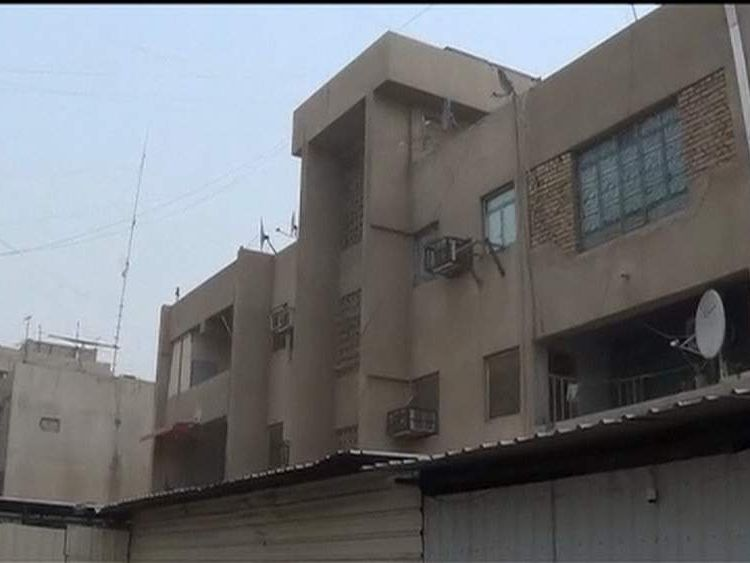 The apartment block where the raid took place