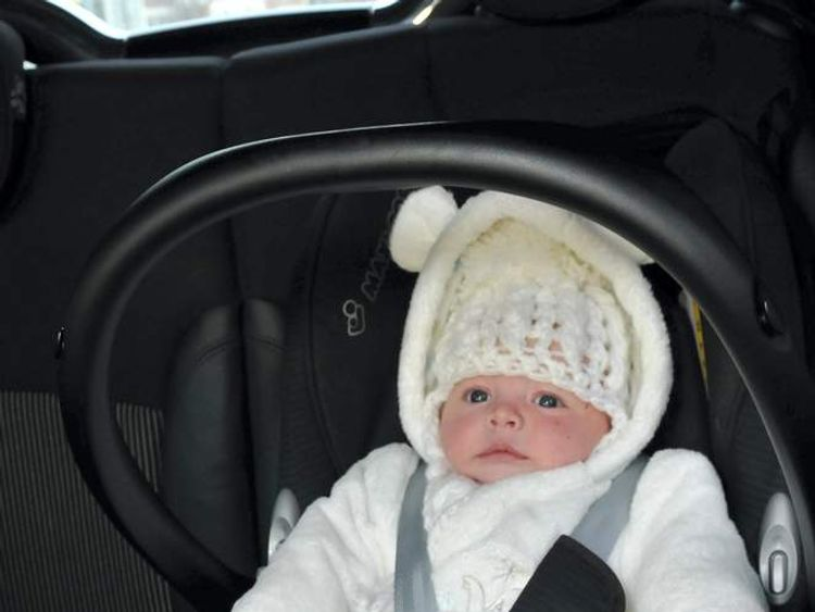 Baby taken in stolen car