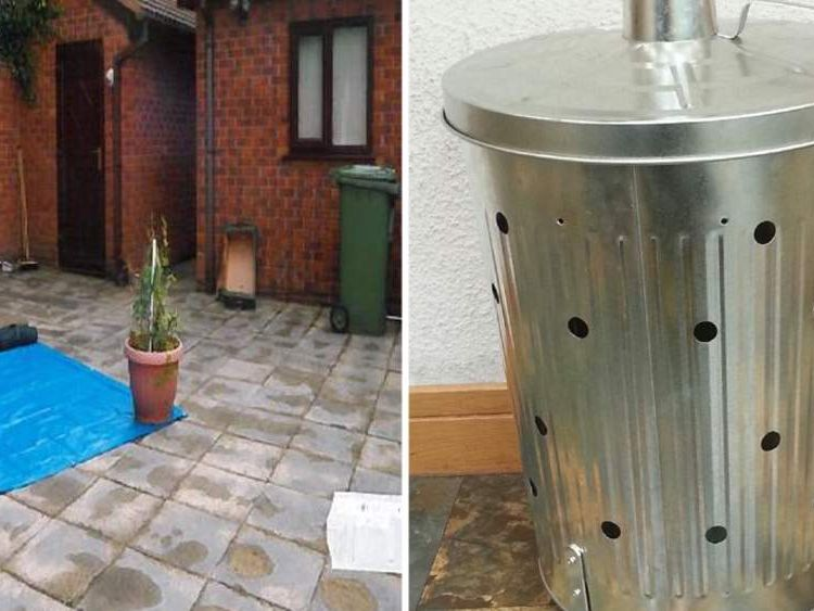 Ginday's back garden and the incinerator in which Varkha's body was burnt