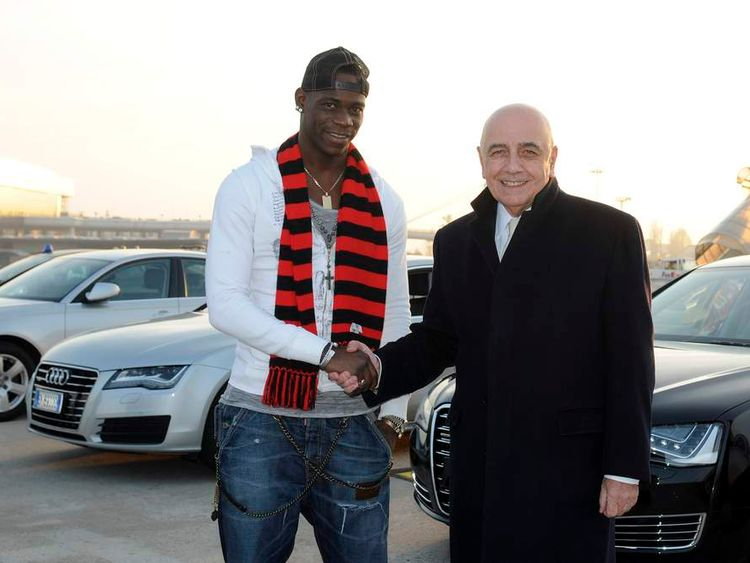 Mario Balotelli and Adriano Galliani