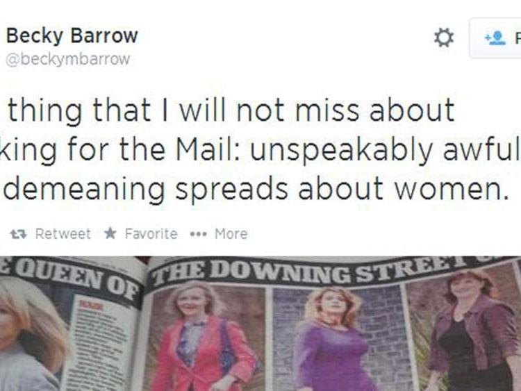 Becky Barrow tweet