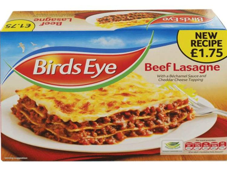 A picture of a Birds Eye Lasagne ready meal