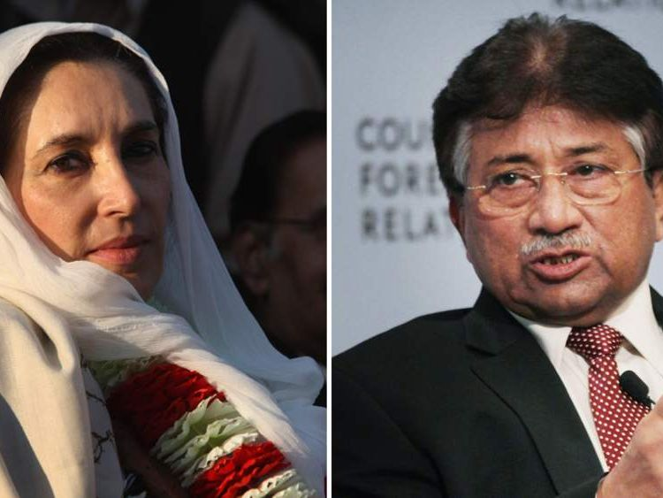 Benazir Bhutto and Pervez Musharraf
