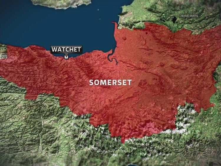 Map of Watchet, Somerset