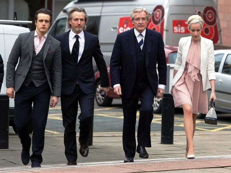 Actor William Roache with his family