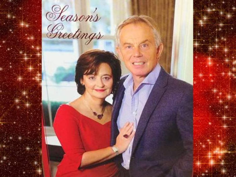 Cherie and Tony Blair's Christmas card for 2014