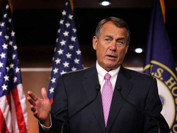 House Speaker Boehner Holds News Conference In Response To Obama