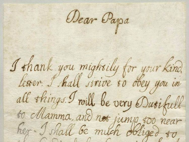 A letter from Bonnie Prince Charlie to his father.