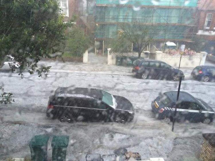 Brighton storm