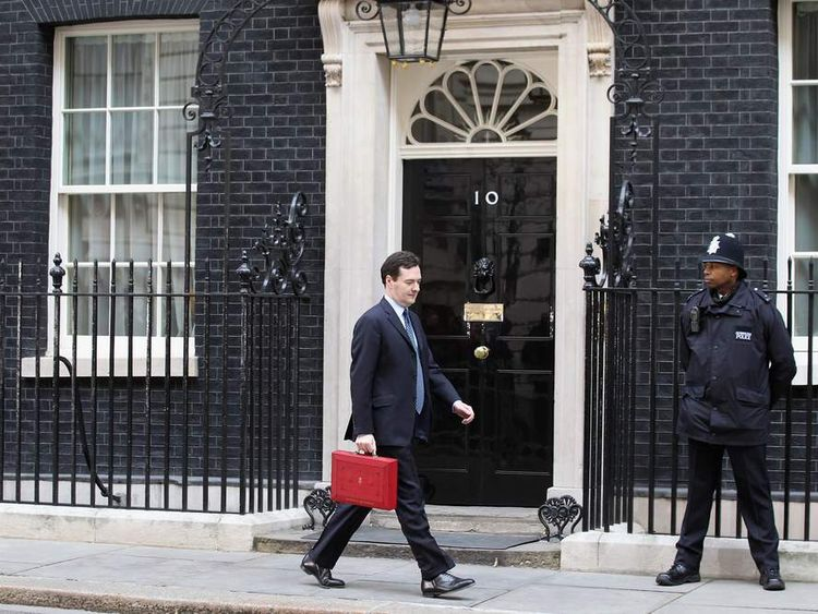 George Osborne Unveils His Budget To Parliament