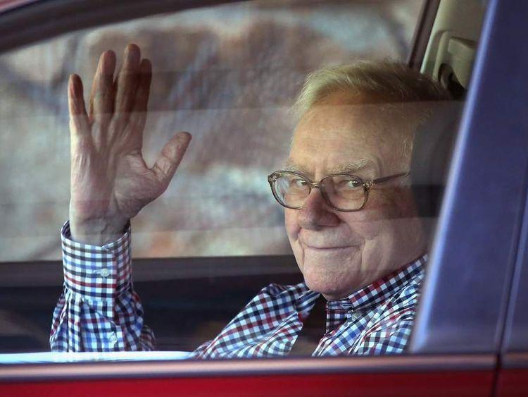 Warren Buffett in Sun Valley, Idaho, this month