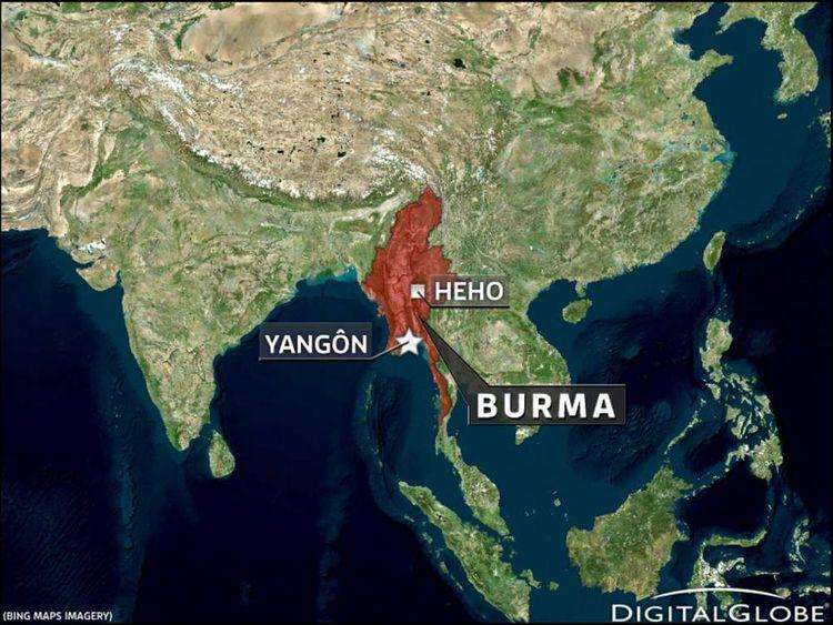 Map Of Plane Crash Near Heho