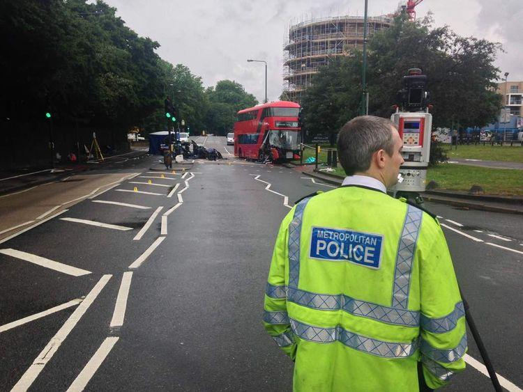 East London Bus Crash