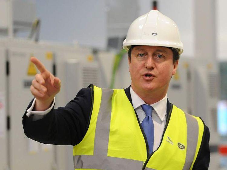 David Cameron visits Jaguar Land Rover