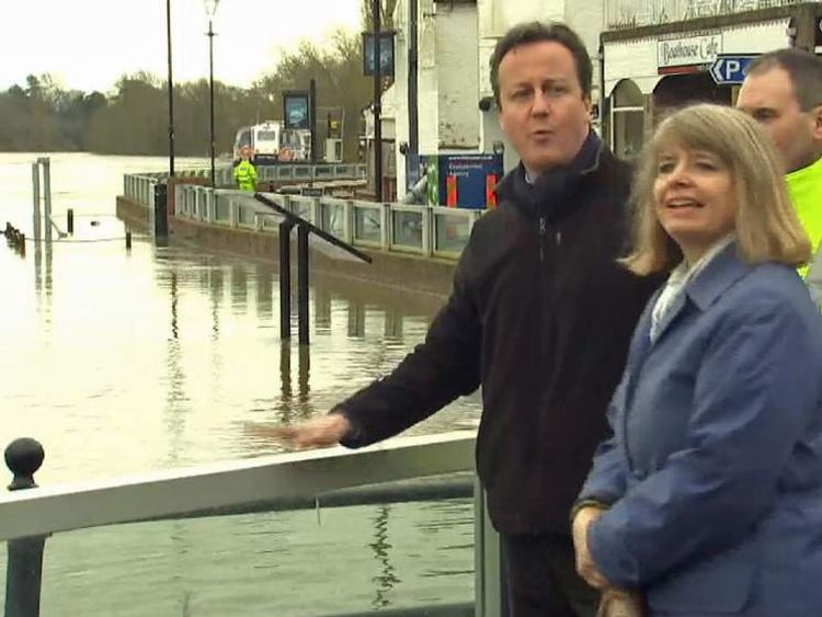 David Cameron visits flood-hit areas