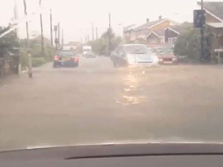 Flooding in Canvey Island, Essex. Pic: Mark Reay