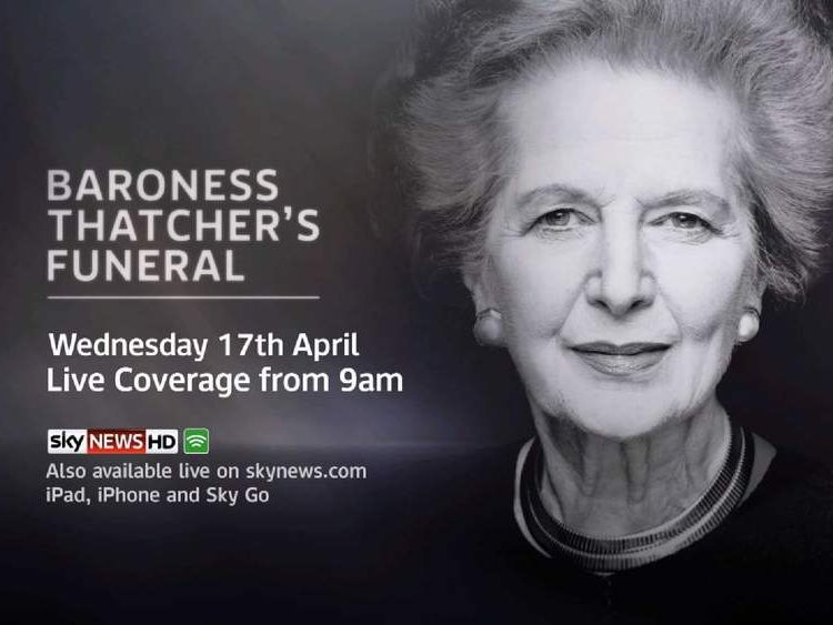 Baroness Thatcher Funeral