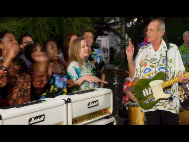 Scene from Status Quo's new film Bula Quo