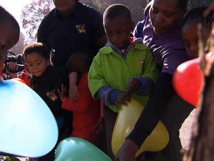 Nelson Mandela kids good wishes