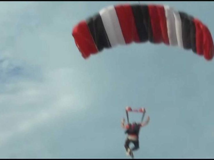 Baseball Player Knocked Out By Skydiver