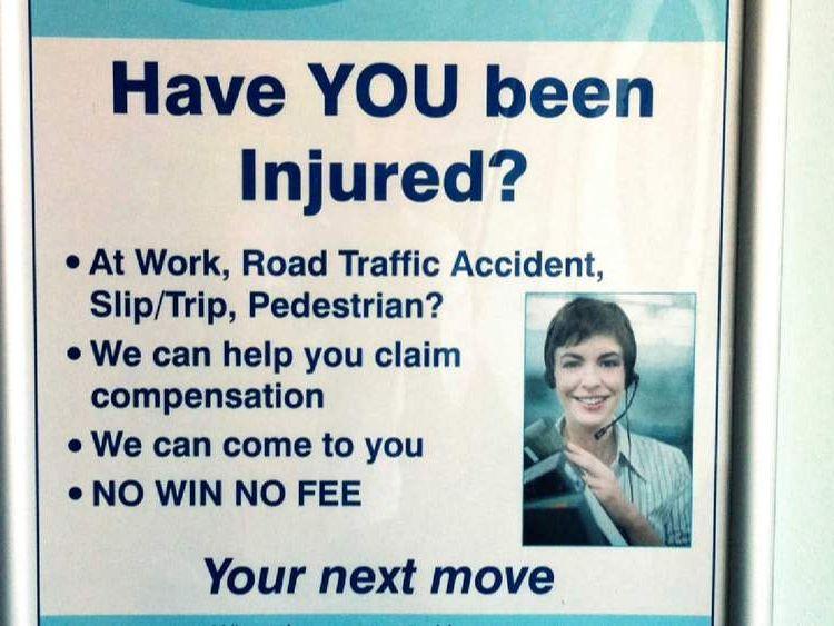 Personal injury lawyer advert