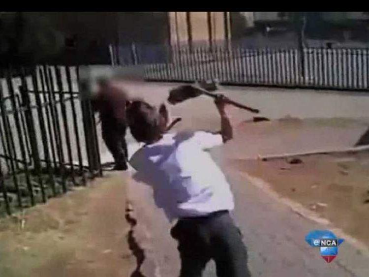 A pupil assaults a teacher at a school in Johannesburg 2