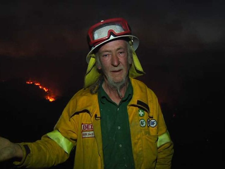 Volunteer Australian firefighter Mark O'Carrigan