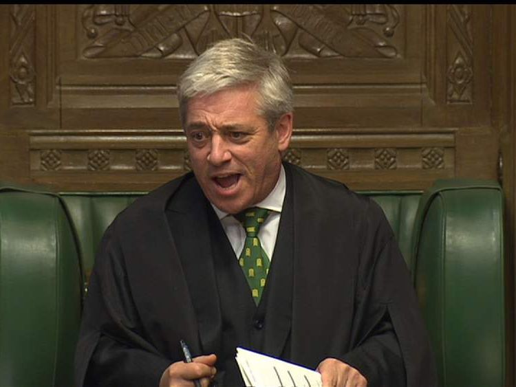 John Bercow Prime Minister's Questions