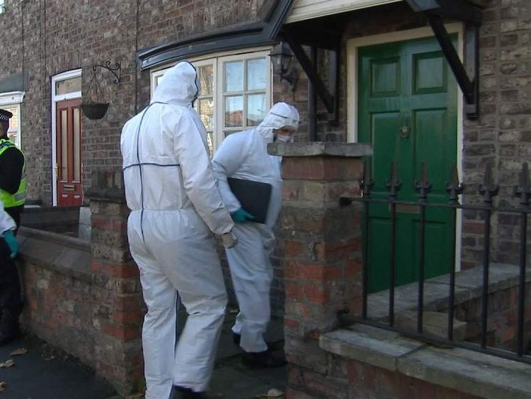 Forensics officers arrive to search Claudia Lawrence's home