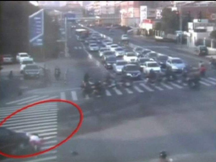 Crash victim trapped