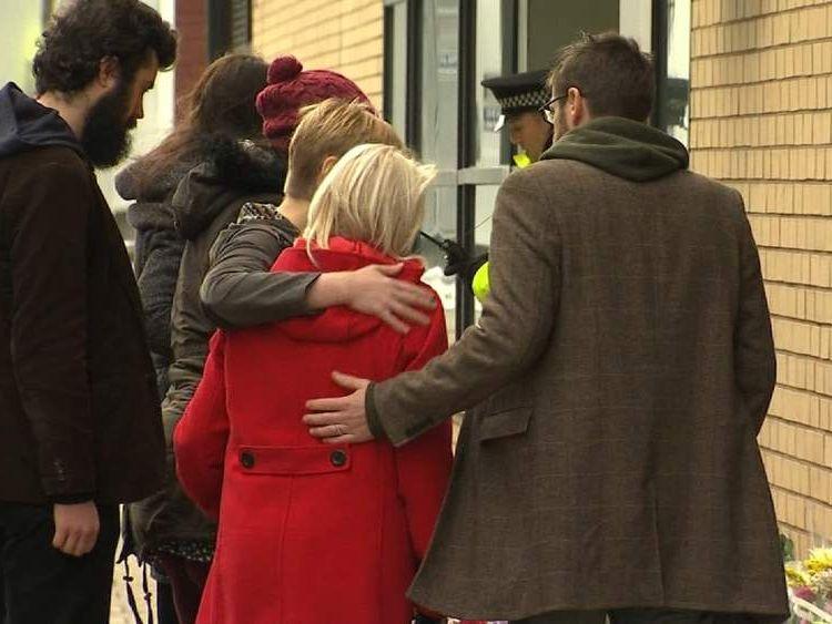 Victims' relatives visit scene after Glasgow helicopter crash