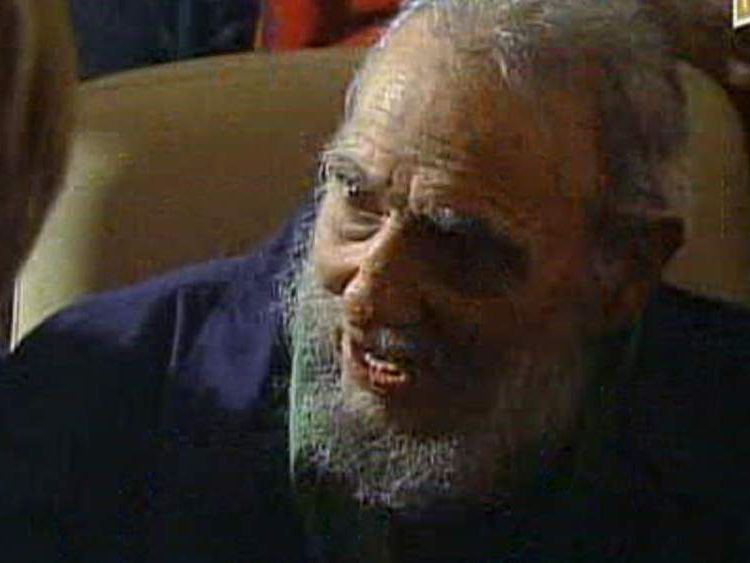Fidel Castro Appears At Art Gallery