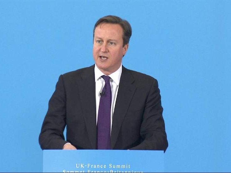 Prime Minister David Cameron and French President Francois Hollande
