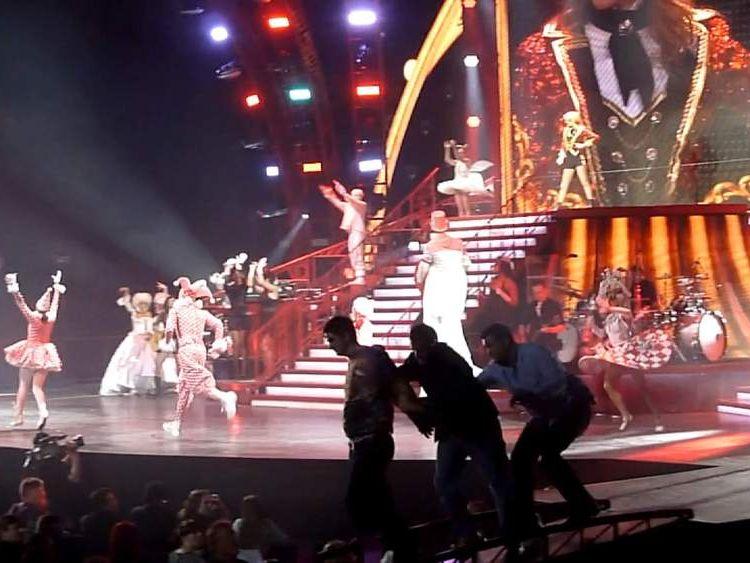 Taylor Swift fan on stage