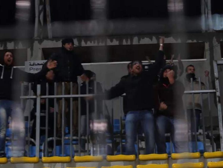 Wadi Al Nees fans celebrate another victory.