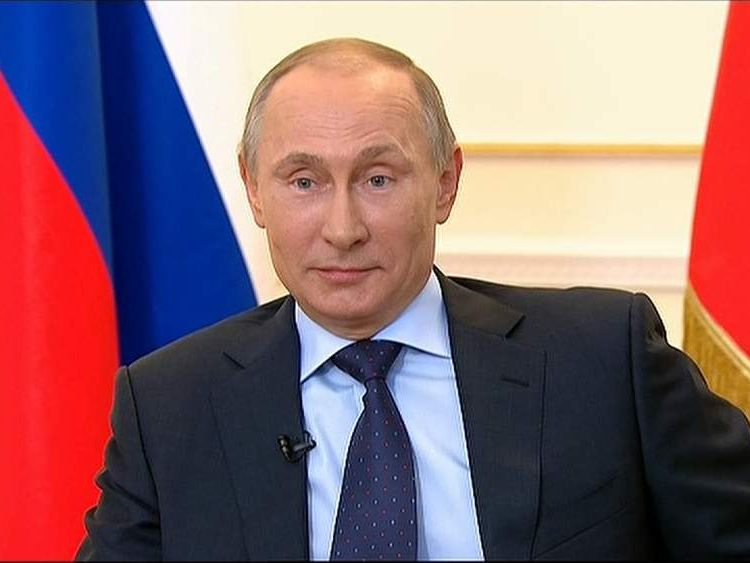 Russian President Vladimir Putin speaks in Moscow