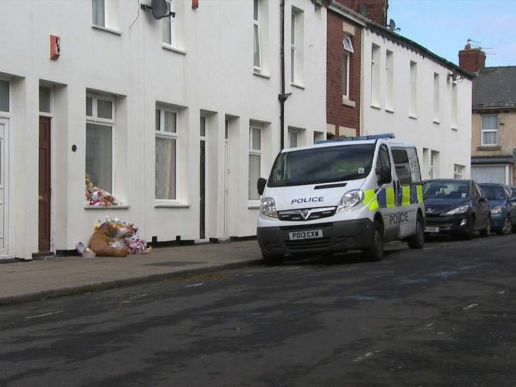 Home where Sophie Jones had cardiac arrest in Blackpool