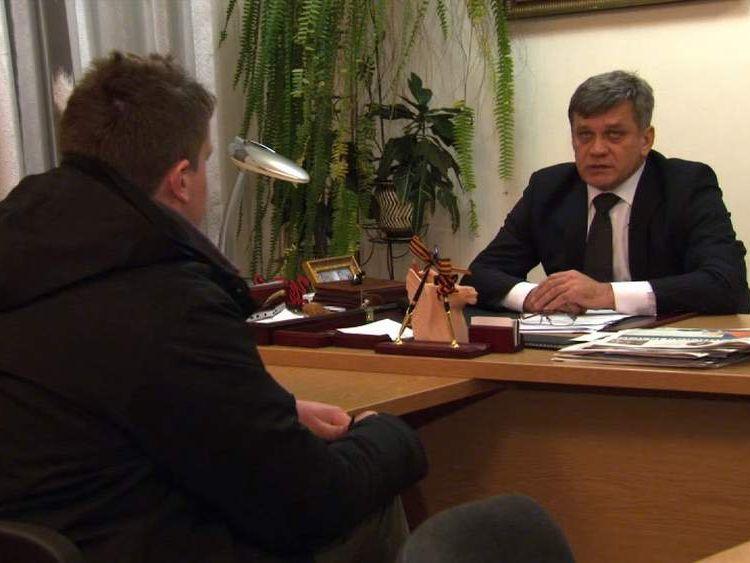 The Deputy Mayor of Simferopol Glazkov i'Lya.