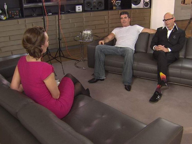 Sky's Isabel Webster interviews Harry Hill and Simon Cowell about the X Factor musical