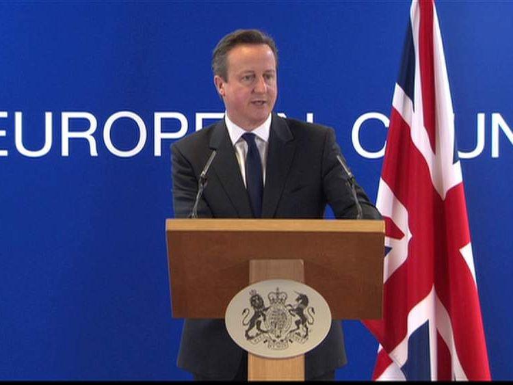 David Cameron speaks about Crimea